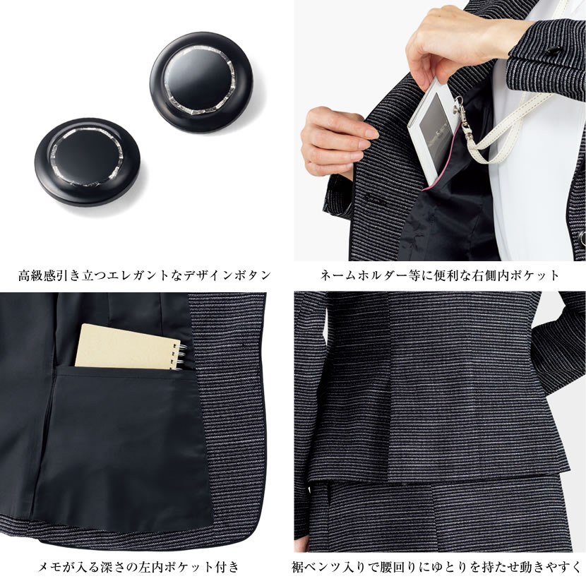 洗える,事務服,制服,ブラウス,着回し,ワンタッチリボンタイ風ブラウス 黒,白,ホワイト,ブラック